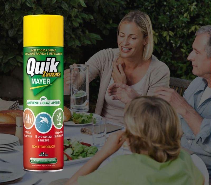 8 Ore senza zanzare Quik Mayer Rat_Catering